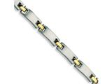 Chisel Stainless Steel 24k Gold Plated Bracelet - 8.5 inches style: SRB106