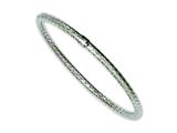 Chisel Stainless Steel Textured and Polished Hollow Slip-on Bangle style: SRB1078