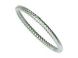 Chisel Stainless Steel Textured and Polished Hollow Slip-on Bangle style: SRB1080