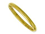 Chisel Stainless Steel Yellow Ip-plated Textured Hollow Slip-on Bangle style: SRB1085