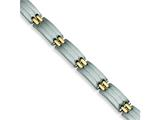 Chisel Stainless Steel 24k Gold Plated Bracelet - 8.75 inches style: SRB110
