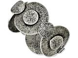 Chisel Stainless Steel Antiqued Circles 7in Bracelet style: SRB11177