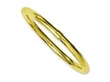 Chisel Stainless Steel Yellow Ip-plated Polished Hollow Bangle Bracelet style: SRB1123