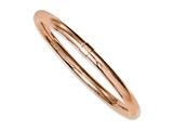 Chisel Stainless Steel Rose Ip-plated Polished Hollow Bangle Bracelet style: SRB1124