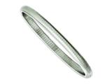 Chisel Stainless Steel Textured Hollow Slip-on Bangle style: SRB1134