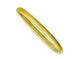Chisel Stainless Steel Yellow Ip-plated Textured Hollow Slip-on Bangle style: SRB1135