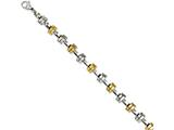 Chisel Stainless Steel Yellow Ip-plated and Polished Links 8.25in Bracelet style: SRB1139825