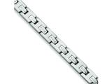 Chisel Stainless Steel Brushed and Polished Bracelet - 8.75 inches