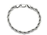 Chisel Stainless Steel Polished 6mm Rope Bracelet style: SRB11909