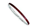 Chisel Stainless Steel Red And Black Enameled Bangle style: SRB1202