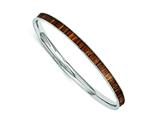 Chisel Stainless Steel Brown And Black Enameled Bangle style: SRB1203