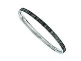 Chisel Stainless Steel Black And White Enameled Bangle style: SRB1207