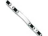 Chisel Stainless Steel Carbon Fiber Bracelet - 8.5 inches