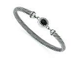 Chisel Stainless Steel Black Onyx Antiqued Bracelet style: SRB1223