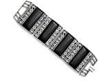 Chisel Stainless Steel Black Onyx Antiqued Bracelet style: SRB1231775