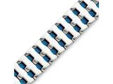 Chisel Stainless Steel Blue Ip-plated Bracelet style: SRB12408