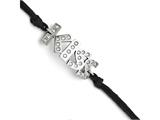 Chisel Stainless Steel Cz Kiss With 1.75ext Bracelet style: SRB1247775