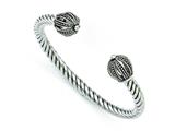 Chisel Stainless Steel Antiqued Twisted Cuff Bracelet style: SRB1249