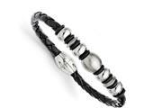 Chisel Stainless Steel Leather Brushed/polished Bracelet style: SRB1251825