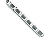 Chisel Stainless Steel Grey Cable Bracelet - 8.5 inches