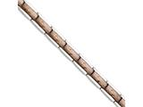 Chisel Stainless Steel Polished And Textured Brown Ip-plated Bracelet style: SRB129885