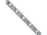 Chisel Stainless Steel 24k Gold Plated Bracelet - 8.75 inches