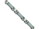 Chisel Stainless Steel Grey Carbon Fiber Bracelet - 9 inches