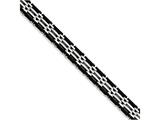 Chisel Stainless Steel Polished Black Rubber Bracelet style: SRB1371825
