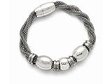 Chisel Stainless Steel Polished And Brushed Beads Twisted Bracelet style: SRB1378775