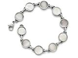 "Chisel Stainless Steel Polished Cat""s Eye And Mother Of Pearl Bracelet style: SRB1386775"