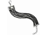 Chisel Stainless Steel Polished Mop/black Onyx W/1.50in Ext Bracelet style: SRB138875