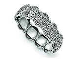 Chisel Stainless Steel Polished/antiqued Oval Stretch Bracelet style: SRB1391
