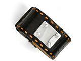 Chisel Stainless Steel Black Leather Orange Stitch Buckle Id Bracelet style: SRB1428925