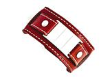 Chisel Stainless Steel Red Leather Polished/brushed Buckle Bracelet style: SRB14339