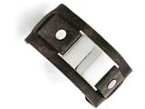 Chisel Stainless Steel Dark Brown Leather Polished Buckle Bracelet style: SRB1435875