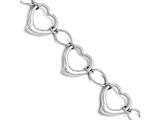 Chisel Stainless Steel Polished Hearts Bracelet style: SRB1453775