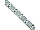 Chisel Stainless Steel Grey Carbon Fiber Bracelet - 8.5 inches style: SRB145