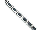 Chisel Stainless Steel Carbon Fiber Bracelet - 9.25 inches