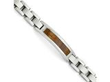 Chisel Stainless Steel Polished/brushed Wood Inlay Enameled Bracelet style: SRB149285