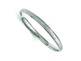 Chisel Stainless Steel Polished And Laser Cut Hammered Bangle style: SRB1499