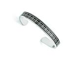 Chisel Stainless Steel Polished Carbon Fiber/black Ip-plated Crosses Bangle style: SRB1502