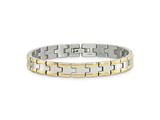 Chisel Stainless Steel and 24K Plated Polished Bracelet - 8.5 inches