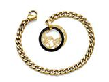 Chisel Stainless Steel/ceramic Polished/laser Cut Yellow Ip-plated Bracelet style: SRB1549725