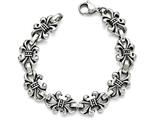 Chisel Stainless Steel Polished And Antiqued Fleur De Lis Bracelet style: SRB1555825
