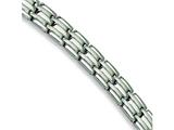 Chisel Stainless Steel Brushed and Polished Bracelet - 8.5 inches style: SRB156