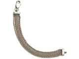 Chisel Stainless Steel Polished Rose Ip-plated 6 Strand Bracelet style: SRB1570775