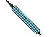 Chisel Stainless Steel Black Cord Woven Imitation Turquoise Bracelet style: SRB15849