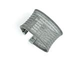 Chisel Stainless Steel Polished Mesh Wide Cuff Bangle style: SRB1587