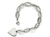 Chisel Stainless Steel Polished Heart Bracelet style: SRB159285