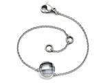 Chisel Stainless Steel Polished Grey Glass W/1in Ext Bracelet style: SRB16067